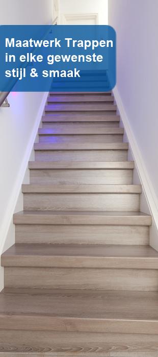 Houten trappen maatwerk trappen van d trappenspecialist in limburg - Renovatie van een houten trap ...
